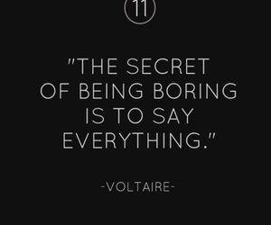 quote, secret, and voltaire image