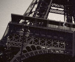 black and white, summertime, and eifel tower image