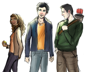 percy jackson, hazel levesque, and frank zhang image