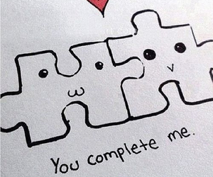 love, puzzle, and complete image