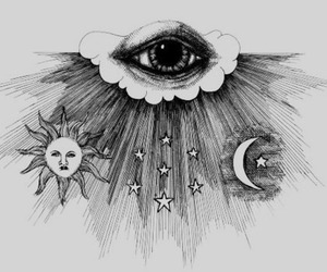 eye, sun, and moon image