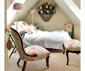 bedroom, light, and shabby chic image