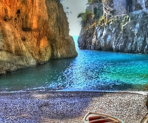 italy, beach, and sea image