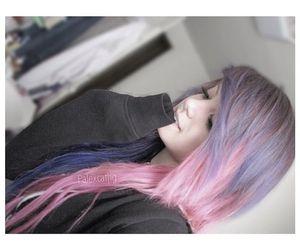 kawaii, pink hair, and purple hair image