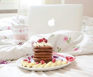 girly, apple, and breakfast image