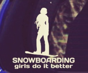 girls, snowboard, and wedoitbetter image