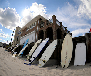 beach, surfboards, and want image