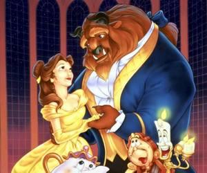 belle, disney, and beast image