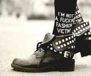 black, shoes, and not a fashion victim image