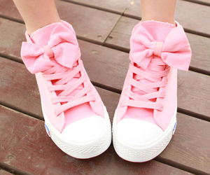 bow, girly, and sneakers image