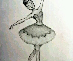 ballerina, beautiful, and drawing image