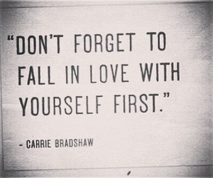 love, quote, and yourself image