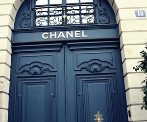 chanel, door, and black image