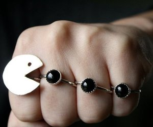 pacman, ring, and rings image