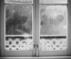 window, rain, and vintage image