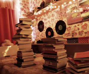 books, room, and light image