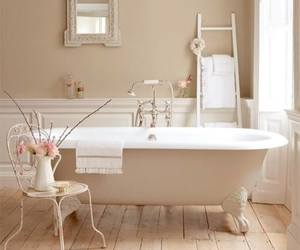 bathroom, home, and vintage image