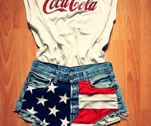 coca cola, shorts, and usa image