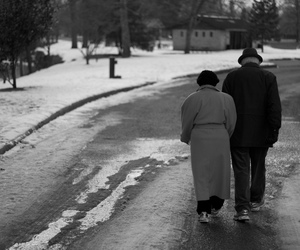 couple, old people, and love image