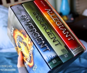 divergent, book, and insurgent image