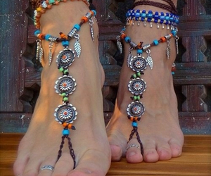 summer, feet, and bohemian image