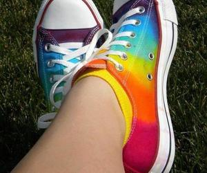 converse, beautiful, and colors image