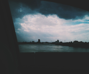 clouds, car, and dark image