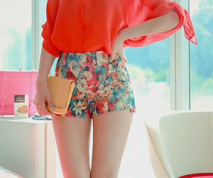 fashion, flowers, and outfit image