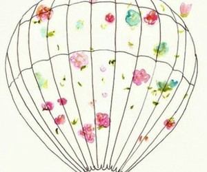 flowers, balloons, and drawing image
