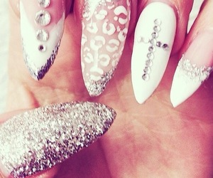 wow, nails, and tumblr image