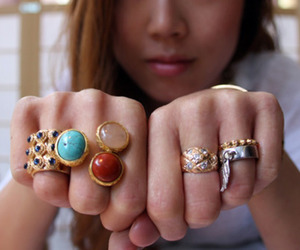 girl, rings, and fashion image