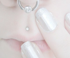 nails, piercing, and pale image
