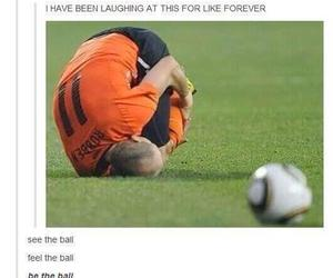 funny, ball, and football image