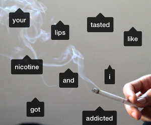 addicted, addiction, and cigarette image