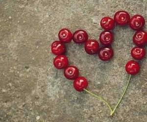 heart, cherry, and love image