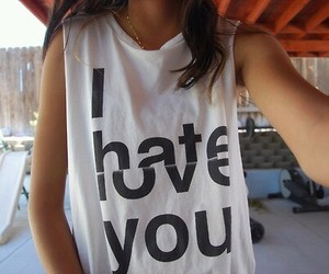 love, hate, and shirt image