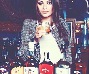 Mila Kunis, drink, and alcohol image