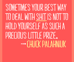 chuck palahniuk, design, and quote image
