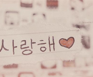 saranghae, korean, and I Love You image