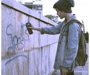 boy, grunge, and graffiti image