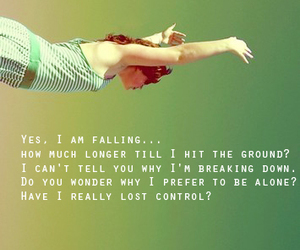 alone, hit the ground, and control image