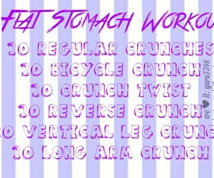crunch, exercise, and workout image
