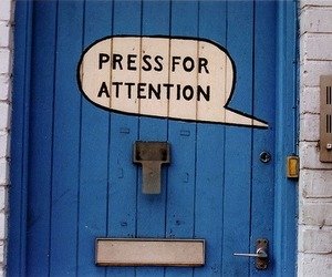door, attention, and blue image