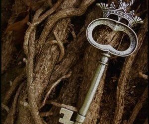 key, magical, and silver image