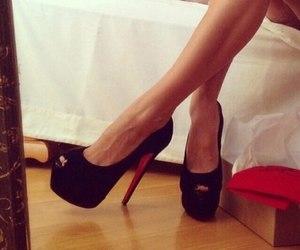 black, fashion, and high heels image