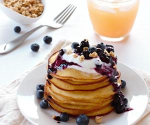pancakes, breakfast, and sweet image
