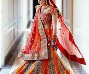 bangles, indian bride, and wedding image