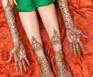 design art, henna, and wedding image
