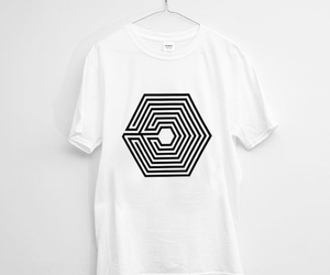 black and white, design, and exo image