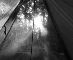 camping, tent, and sun image